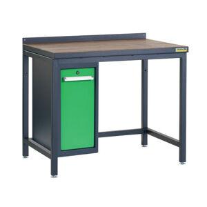 NABBI PSS01D/L9 pracovný stôl grafit / zelená