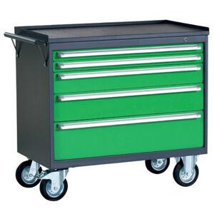 NABBI PWW01G/2L5 dielenský vozík na kollieskach so zámkom grafit / zelená