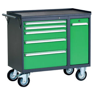 NABBI PWW01G/L5L9 dielenský vozík na kolieskach so zámkom grafit / zelená