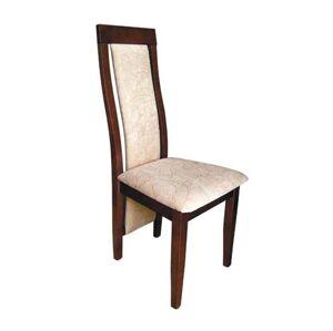PYKA Lido jedálenská stolička drevo D11 / krémový vzor