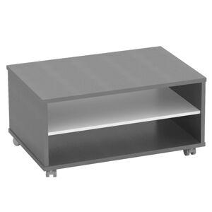 KONDELA Rioma New Typ 32 konferenčný stolík grafit / biela