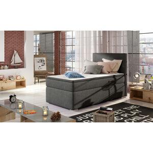 NABBI Rodrigo 90 čalúnená jednolôžková posteľ s úložným priestorom sivá