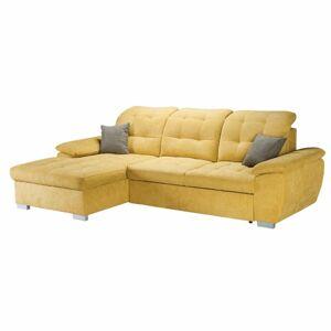 TEMPO KONDELA Evangelin L rohová sedačka s rozkladom a úložným priestorom horčicová