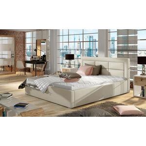 NABBI Rovigo 180 čalúnená manželská posteľ s roštom béžová