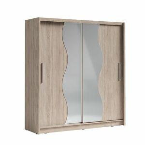 TEMPO KONDELA Birgamo Typ 1 šatníková skriňa s posuvnými dverami dub sonoma