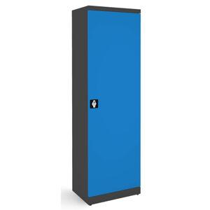 NABBI SB600 kovová kancelárska skriňa s nastaviteľnými policami grafit / modrá