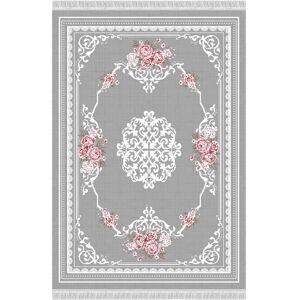 TEMPO KONDELA Sedef Typ 2 koberec 160x230 cm sivá / vzor kvety