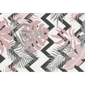 KONDELA Selim koberec 67x120 cm kombinácia farieb / vzor listy