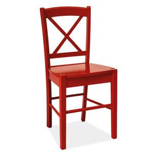 SIGNAL CD-56 jedálenská stolička červená