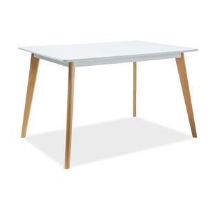 SIGNAL Declan I jedálenský stôl biela / buk