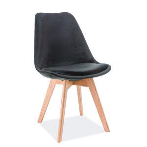 SIGNAL Dior Dub Velvet jedálenská stolička čierna / dub