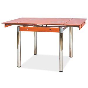 SIGNAL GD-082 jedálenský stôl chrómová / priehľadná / oranžová
