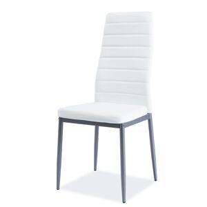SIGNAL H-261 BIS ALU jedálenská stolička biela / hliník
