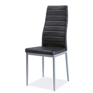 SIGNAL H-261 BIS ALU jedálenská stolička čierna / hliník