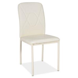 SIGNAL H-623 jedálenská stolička krémová