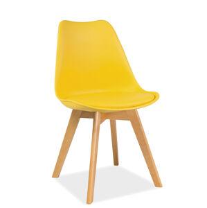 SIGNAL Kris Buk jedálenská stolička žltá / buk