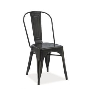 SIGNAL Loft jedálenská stolička čierna