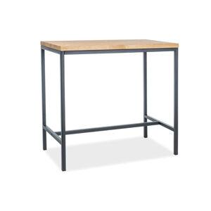 SIGNAL Metro barový stôl dub / čierna