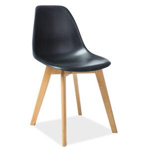 SIGNAL Moris jedálenská stolička čierna / buk