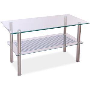 SIGNAL Pixel B1 sklenený konferenčný stolík chrómová / priehľadná