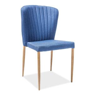 SIGNAL Polly jedálenská stolička granátová / dub
