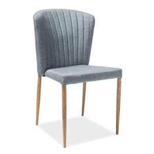 SIGNAL Polly jedálenská stolička sivá / dub