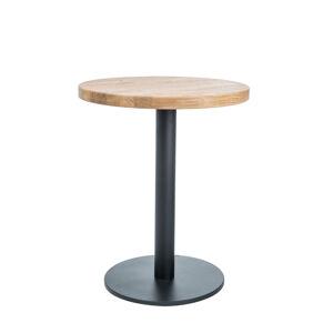 SIGNAL Puro II okrúhly jedálenský stôl dub prírodný / čierna
