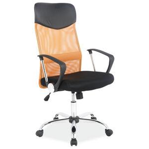 SIGNAL Q-025 kancelárske kreslo čierna / oranžová