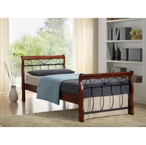 SIGNAL Venecja 120 rustikálna jednolôžková posteľ s roštom čerešňa antická