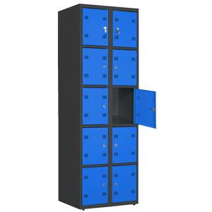 NABBI SK300-010 boxová šatňová skriňa grafit / modrá