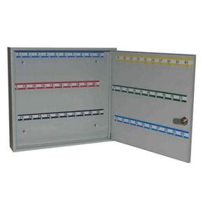 NABBI SK60 kovová skrinka na kľúče s pevnými háčikmi svetlosivá