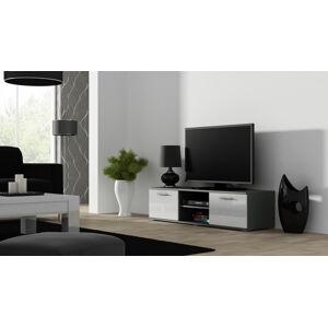 CAMA MEBLE Soho 140 tv stolík sivá / biely lesk