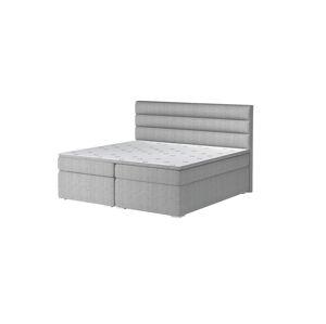 NABBI Spezia 140 čalúnená manželská posteľ s úložným priestorom svetlosivá (Orinoco 21)