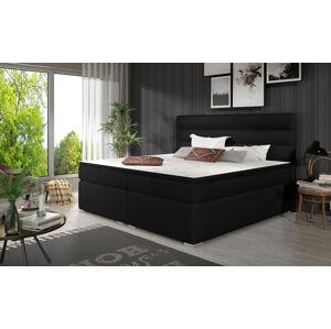 NABBI Spezia 160 čalúnená manželská posteľ s úložným priestorom čierna (Sawana 14)