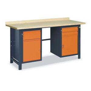 NABBI SS02L/BC pracovný stôl grafit / oranžová