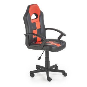 HALMAR Storm detská stolička na kolieskach čierna / červená