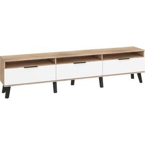 MEBLOCROSS Sven SVN-12 tv stolík sonoma svetlá / biely lesk