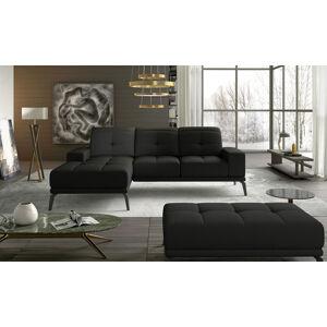 NABBI Tirreno L rohová sedačka čierna (Sawana 14)
