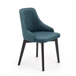 HALMAR Toledo 3 jedálenská stolička čierna / tmavozelená
