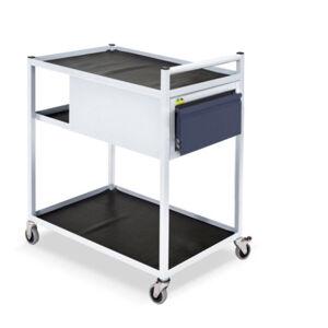 NABBI TWS 02 mobilný servisný vozík na kolieskach svetlosivá / grafit