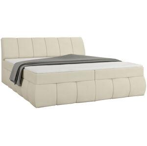 NABBI Vareso 140 čalúnená manželská posteľ s úložným priestorom béžová (Soft 33)