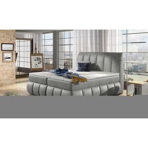 NABBI Vareso 140 čalúnená manželská posteľ s úložným priestorom svetlosivá (Monolith 84)