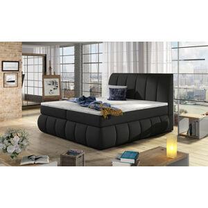 NABBI Vareso 160 čalúnená manželská posteľ s úložným priestorom čierna (Sawana 14)