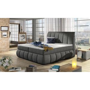 NABBI Vareso 160 čalúnená manželská posteľ s úložným priestorom sivá (Sawana 05)