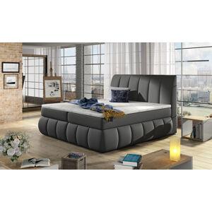 NABBI Vareso 160 čalúnená manželská posteľ s úložným priestorom sivá (Soft 29)