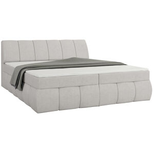 NABBI Vareso 160 čalúnená manželská posteľ s úložným priestorom svetlosivá (Orinoco 21)