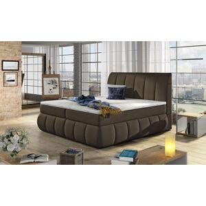 NABBI Vareso 180 čalúnená manželská posteľ s úložným priestorom hnedá (Orinoco 29)