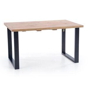 HALMAR Venom 160/210 rozkladací jedálenský stôl dub wotan / čierna