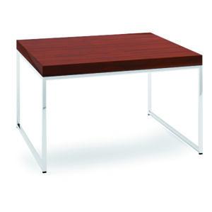 TARANKO Via VI-S4 konferenčný stolík mahagón vysoký lesk / chróm