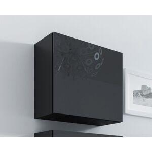 CAMA MEBLE Vigo 50 skrinka na stenu čierna / čierny lesk